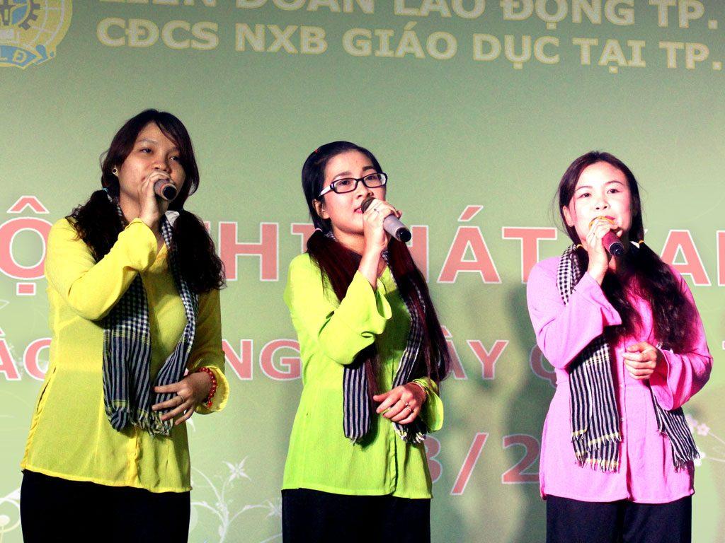 Các tiết mục tham gia hội thi Karaoke chào mừng ngày 8/3