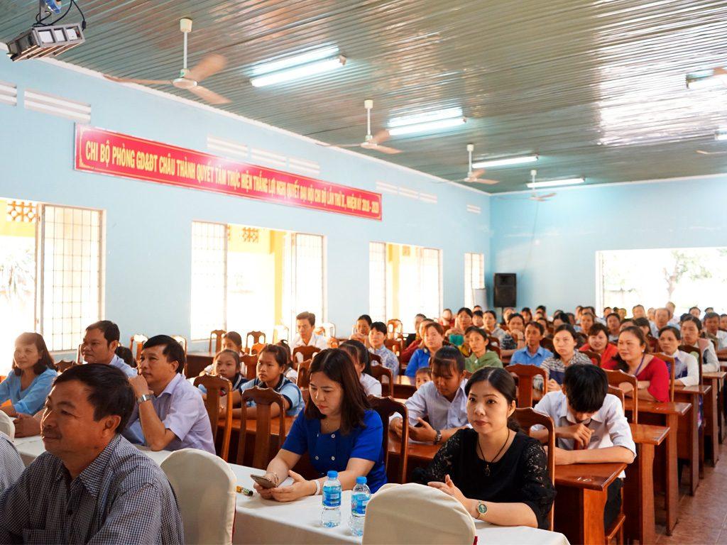 Giáo Viên & Học Sinh các trường thuộc huyện Châu Thành - tỉnh Tây Ninh, về dự Lễ trao tặng quà Tết Kỷ Hợi 2019